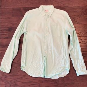 J. Crew sun washed oxford. Lime color